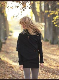 Black Sweater on the website ustrendy.com by the designer:  I adore this unique look, however, not sure it really gets cold enough here in Texas to wear it...