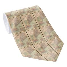 Vintage Map of New England (1880) Neck Tie