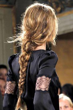 long messy braid