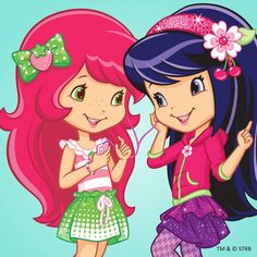 Strawberry Shortcake and Cherry Jam as berry best friends Strawberry Shortcake Cartoon, Cartoon Drawings, Cute Drawings, Looney Tunes Wallpaper, Disney Princess Babies, Child Doll, Character Design Inspiration, Disney Cartoons, Vintage Dolls