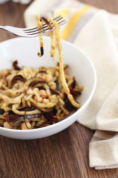 How to Spiralize an Eggplant: Eggplant Noodles The recipe sounds good even if you just cut up the eggplant. :O)