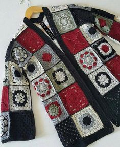 Crochet top colorful boho tunic Bohemian Gypsy Freeform Patchwork Designer Lace Blouse Pullover Sweater Plus Size / IN STOCK Gilet Crochet, Crochet Coat, Crochet Cardigan Pattern, Crochet Jacket, Crochet Blouse, Crochet Granny, Crochet Clothes, Crochet Stitches, Crochet Patterns