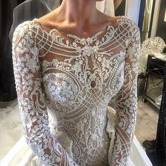 Elaborate embellisment on this wedding gown bodice is going to look fantastic in Bridal portraits and closeups.   Post by brides_style on Instagram | Vibbi