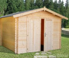Palmako Bergerac B Log Cabin makes a really solid garden storage building. Shipped from Greenhouse Stores with free UK home delivery.     http://www.greenhousestores.co.uk/Palmako-Bergerac-B-Log-Cabin.htm
