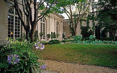 Page's garden at The Frick Collection in New York in