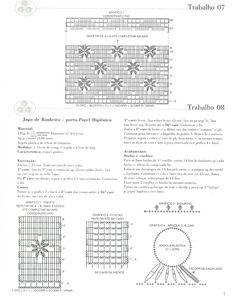 Crochê Gráfico: JOGO DE BANHEIRO EM CROCHÊ FLORES