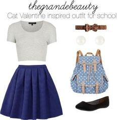 """Ariana Grande inspired outfit for school"" by beautifulgurrl ❤ liked on Polyvore by maribel"
