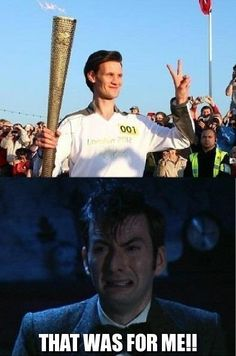 David Tennant is crying! Damn you Matt Smith!