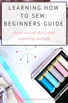 Learning how to sew with sheer fabrics; essential tips and tricks #sew #isew #sewingblogger #learntosew #seamstress #beginner #sewcialists #memadeeveryday #dresshandmade #makersgonnamake @thefoldline