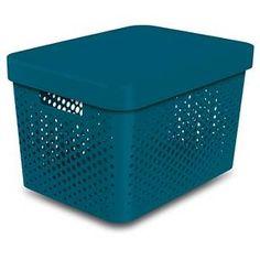 Room Essentials™ Storage Large Bin  Perforated Teal : Target