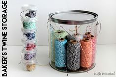 An ingenious way to organise all those pesky threads or twine in your craft space