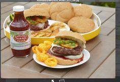 Hawaiian burger with Hawaiian BBBQ Sauce from Cost Plus World Market