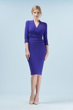 03656aeb8d5d Tegan Wrap Top Pencil Dress The Pretty Dress Company, Vintage Inspired  Dresses, Pencil Dress