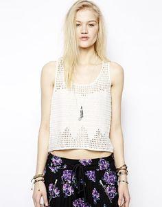 Somedays Lovin Cotton Crochet Tank Top