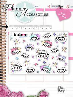 Sticker - Kawaii Panda Sticker SchlafenStickers NR782 - ein Designerstück von PlannerAccessories bei DaWanda