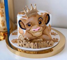 Lion Cakes, Lion King Cakes, Lion King Party, Lion King Birthday, Bithday Cake, Baby Birthday Cakes, Creative Desserts, Creative Cakes, Lion King Baby Shower