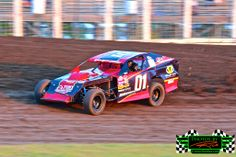 Zach Bruer from Fisher MN slinging dirt in his #01 WISSOTA Midwest Modified at The Legendary Bullring River Cities Speedway in Grand Forks ND - Photos By Rick Rea www.RickRea.com