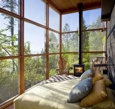 I love the idea of waking up to sunlight.... too bad I'm allergic, maybe UV-blocking/insulated glass?