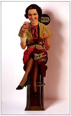 Maureen O'sullivan ~ Coke advertisement...Coca Cola Coke Coca-Cola