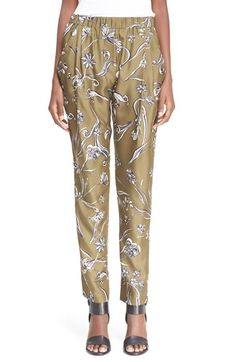 3.1 PHILLIP LIM Floral Print Silk Trousers. #3.1philliplim #cloth #