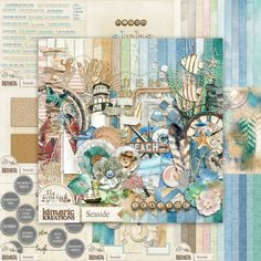 kimeric kreations: Seaside - new this week and a beautiful frame cluster to share!