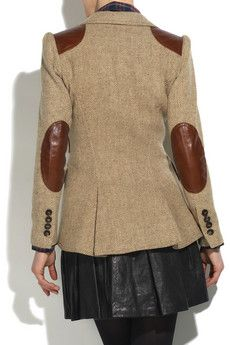 tailored tweed + leather