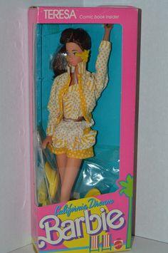 NEW 1987 CALIFORNIA DREAM TERESA BARBIE DOLL @  Dolls, Barbie Contemporary (1973-Now)