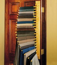 What a great idea for too many pants and not enough drawer space! For scarves