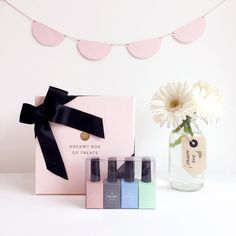 You can't miss our 4 NEW amazing nail-polish shades & the dreamy box of treats!! #toystyle #nailpolish #wowmom #giftbox #makemeblush #smokeylove #bubbleblue #kiwicream
