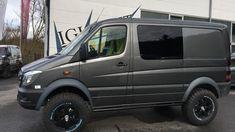Mercedes Sprinter Camper, Mercedes G Wagon, 4x4 Van, 4x4 Camper Van, Sprinter Van Conversion, Camper Van Conversion Diy, Lifted Van, Luxury Van, Vanz