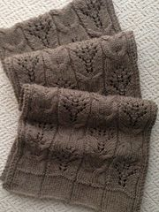 """This pattern has lots of options. It can be knitted as a scarf with 2-3 panels (6.5"""" to 8"""" wide); a scarf/shoulder wrap (12"""" to 15"""" wide) or a wider shawl or stole (15"""" wide or more). The bottom hemline and side borders are optional and can be substituted with seed or moss stitch borders, simple garter stitch borders, or your personal choice."""