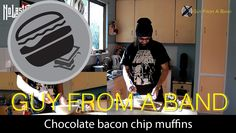 Chocolate bacon chip muffins
