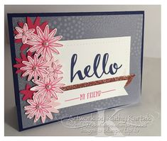 """A Grateful Hello  is made with Stampin' Up's """"Hello"""" stamp set (Sale-a-Bration 2016)"""