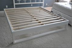 DIY Bed Frame Tutorial (#1 on my list! Very simple and cheap!)