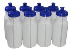Sports Squeeze Plastic Water Bottles Push/pull Cap 20 Ounce Bpa-free Set 8 *** This is an Amazon Affiliate link. You can find more details by visiting the image link.