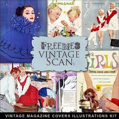 Freebies Retro Magazine Covers Kit