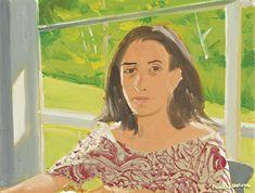 Alex Katz - Ada In Print Dress.
