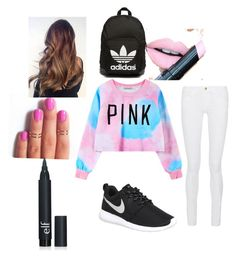 """How to wear outfits for school"" by sylarpembo on Polyvore featuring Chicnova Fashion, Frame Denim, NIKE, Fiebiger, adidas Originals, women's clothing, women, female, woman and misses"