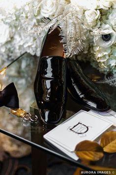 Wedding shoes ideas - groom, black, classic {AURORA IMAGES}