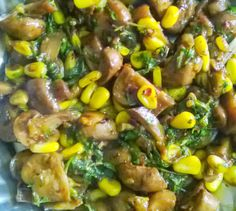 MY FOOD ART: CHILLY MUSHROOMS AND SWEET CORN DELIGHT..