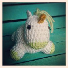 Lime Green Baby Unicorn. $15.00, via Etsy.