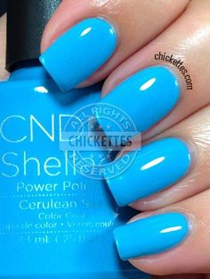 nails.quenalbertini: CND Shellac Paradise Collection Summer 2014 - Cerulean Blue
