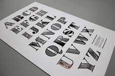 Laser cut type for traditional printing
