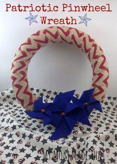 Patriotic Pinwheel Wreath - My Mom Made That