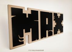 Build your own name in 3D Minecraft wood letters and decorate your room or office! This wood 3D carved sign can be made with any colour in place