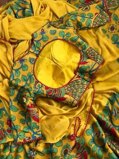 Sophisticated blouse designs for pattu saree Read about . Saree Blouse Neck Designs, Fancy Blouse Designs, Sari Blouse, Saree Dress, Kurta Designs, Mehndi Designs, Lehenga Choli, Anarkali, Kids Lehenga