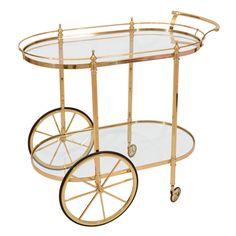 1stdibs - Italian Brass Bar Serving Cart explore items from 1,700  global dealers at 1stdibs.com