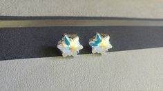 Snowflake Earrings Made With Swarovski Crystals Star Form