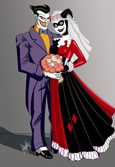 Harley and Joker Wedding by *GStevensArt
