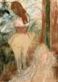 Dancer Dressing Herself (Edgar Degas) 1889